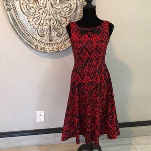 Retro-fit and flare sleeveless dress. Like new